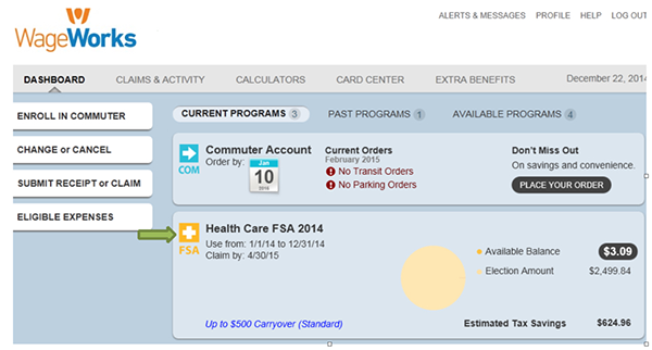 HCFSA dashboard