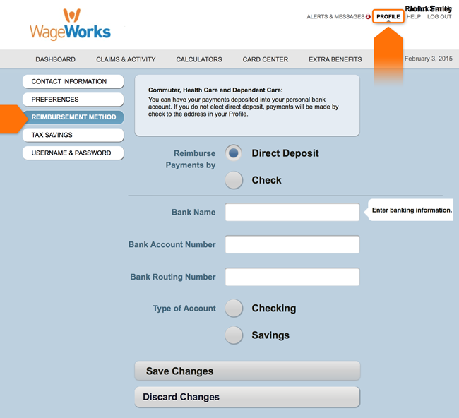 Customize Your Profile | WageWorks
