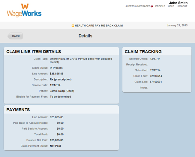 Review Your Claims and Activity | WageWorks